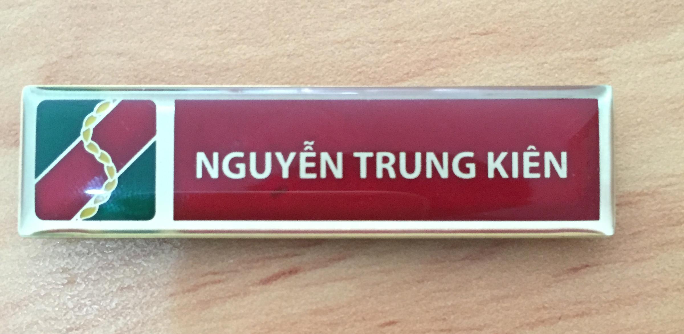 Thẻ tên nhân viên inox đồng